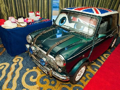 Mini photo booth hire Yorkshire, Jasper, our classic Mini Cooper photo booth